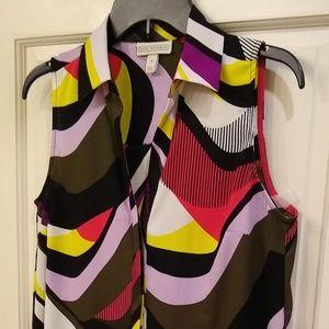 Dana Buchman S Crepe Long Dressy Tank/Shirt
